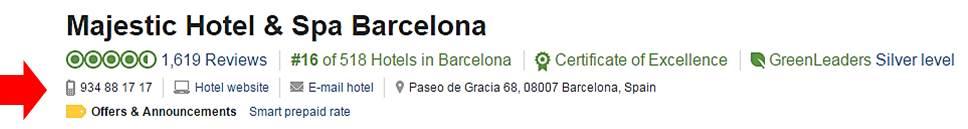 perfil plus tripadvisor del hotel majestic barcelona