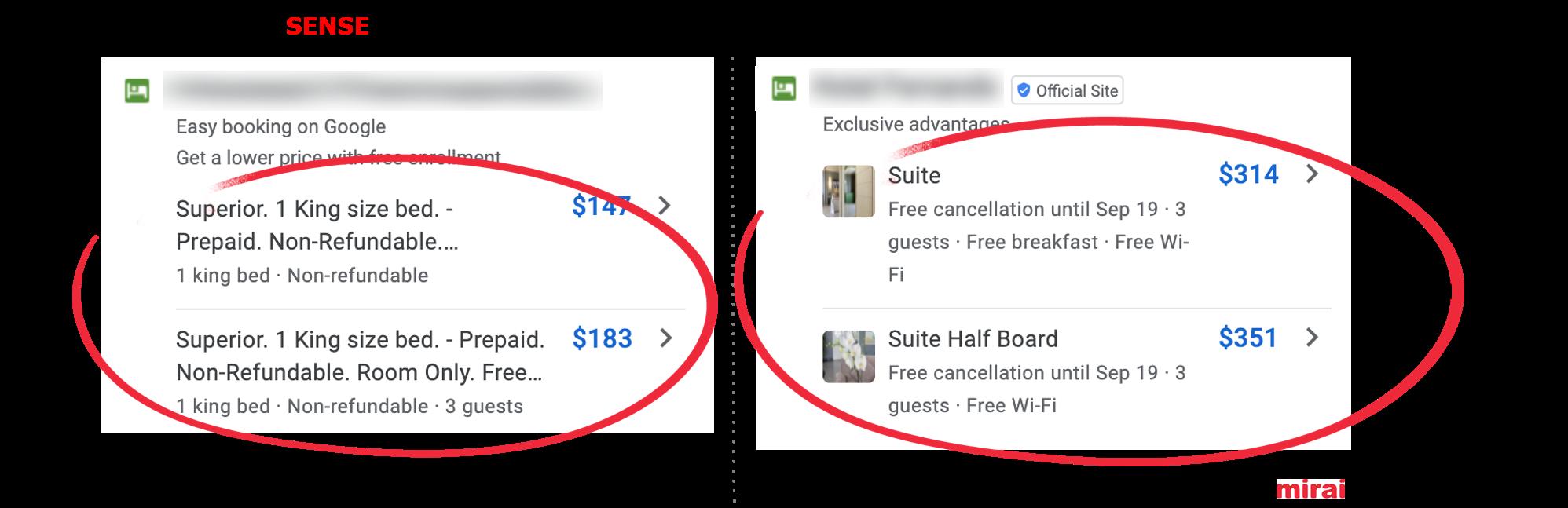 4. Fotos in Google Hotel Ads - Mirai