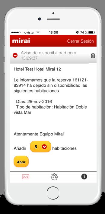 App Mirai Hotelier