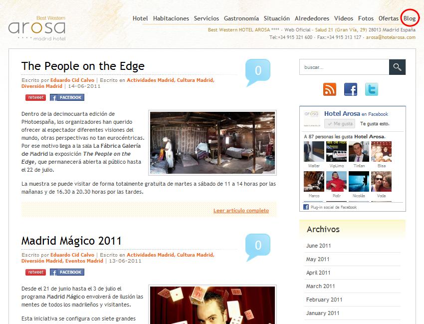 Blog de Hotel