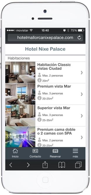 Listado habitaciones