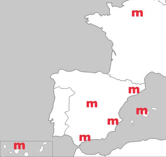 Mapa delegaciones Mirai