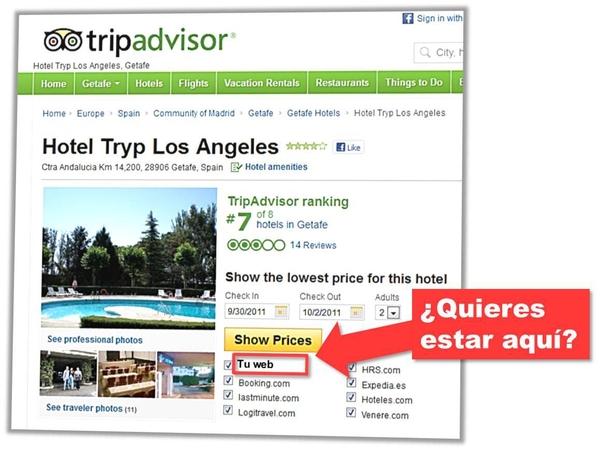 Activa imágenes para ver Precios de tu web oficial en Tripadvisor: Con Mirai ahora es posible