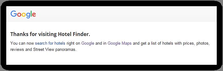 google hotel finder desaparece como marca