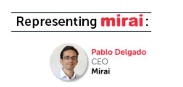 Representing Mirai Pablo Delgadp