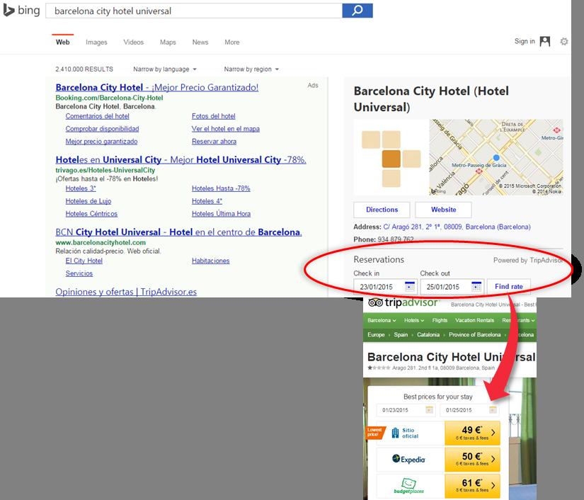 TripAdvisor en Bing2