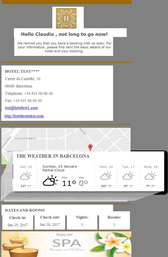 email preestancia detalle previsión meteorológica