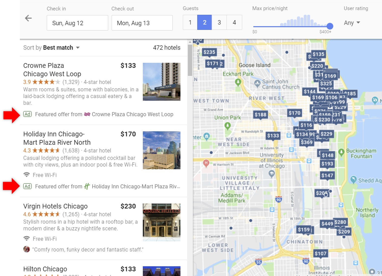 promoted hotels google hotel ads