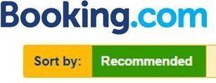 logo booking.com y hoteles recomendados